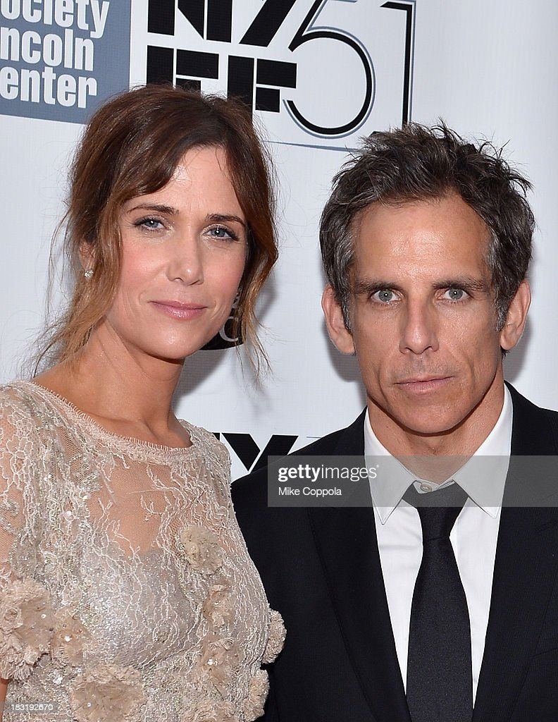 Actress <a gi-track='captionPersonalityLinkClicked' href=/galleries/search?phrase=Kristen+Wiig&family=editorial&specificpeople=4029391 ng-click='$event.stopPropagation()'>Kristen Wiig</a> and actor <a gi-track='captionPersonalityLinkClicked' href=/galleries/search?phrase=Ben+Stiller&family=editorial&specificpeople=201806 ng-click='$event.stopPropagation()'>Ben Stiller</a> attend the Centerpiece Gala Presentation Of 'The Secret Life Of Walter Mitty' during the 51st New York Film Festival at Alice Tully Hall at Lincoln Center on October 5, 2013 in New York City.