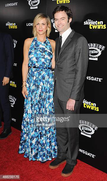 Actress Kristen Wiig and actor Bill Hader arrive at the Los Angeles Premiere 'The Skeleton Twins' at ArcLight Hollywood on September 10 2014 in...