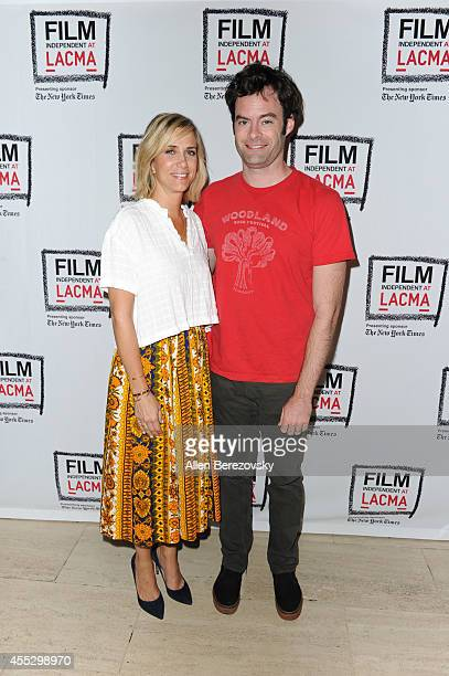 Actress Kristen Wiig and actor Bill Hader attend a special screening of 'The Skeleton Twins' and QA session as part of Film Independent presented by...