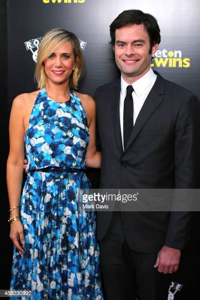 Actress Kristen Wiig and actor Bill Hader attend the premiere of Roadside Attractions 'The Skeleton Twins' at the ArcLight Hollywood on September 10...