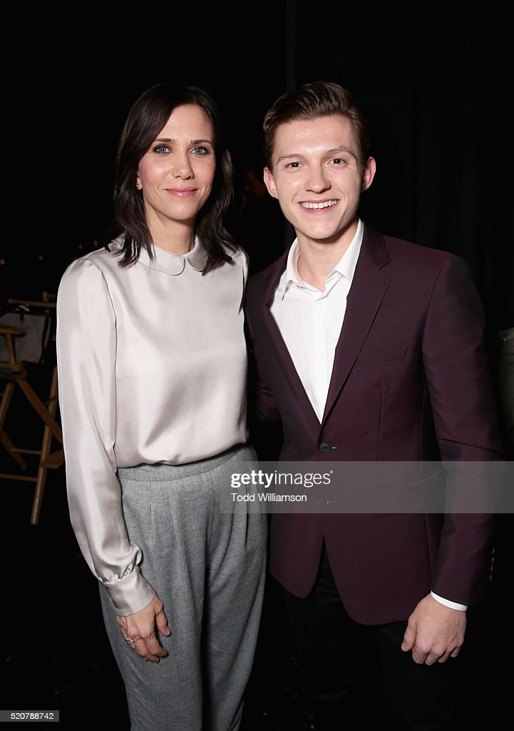 Actress Kristen Wiig and actor Tom Holland attend CinemaCon 2016 An Evening with Sony Pictures Entertainment Celebrating the Summer of 2016 and...