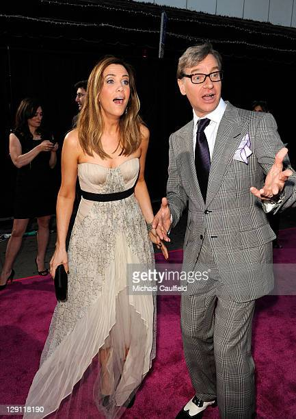 Actress Kristen Wiig and director/executive producer Paul Feig arrive at the premiere of Universal Pictures' 'Bridesmaids' held at Mann Village...