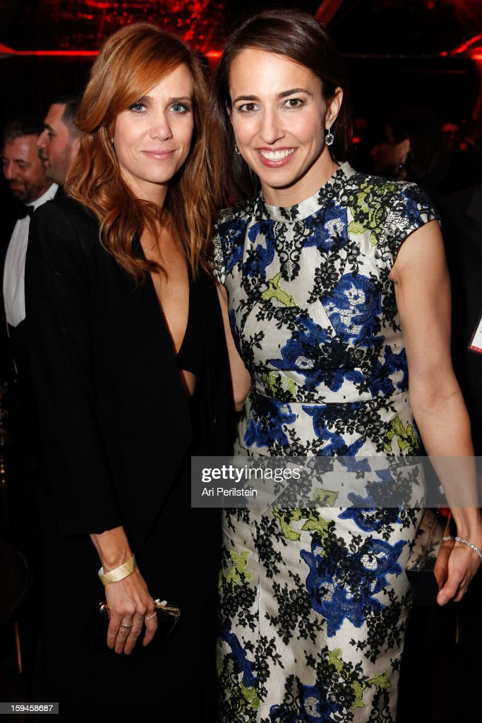Actress Kristen Wiig (L) and Marie Claire's Editor In Chief Anne Fulenwider attend the The Weinstein Company's 2013 Golden Globe Awards after party presented by Chopard, HP, Laura Mercier, Lexus, Marie Claire, and Yucaipa Films held at The Old Trader Vic's at The Beverly Hilton Hotel on January 13, 2013 in Beverly Hills, California.
