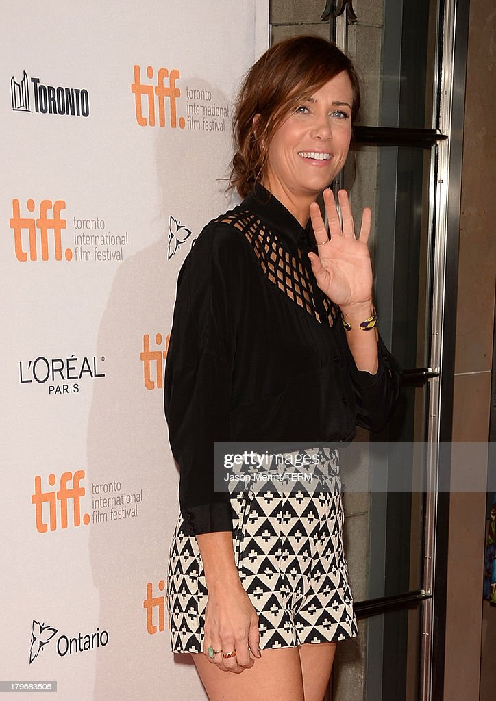 Actress <a gi-track='captionPersonalityLinkClicked' href=/galleries/search?phrase=Kristen+Wiig&family=editorial&specificpeople=4029391 ng-click='$event.stopPropagation()'>Kristen Wiig</a> arrives at 'Hateship Loveship' Premiere during the 2013 Toronto International Film Festival at Princess of Wales Theatre on September 6, 2013 in Toronto, Canada.