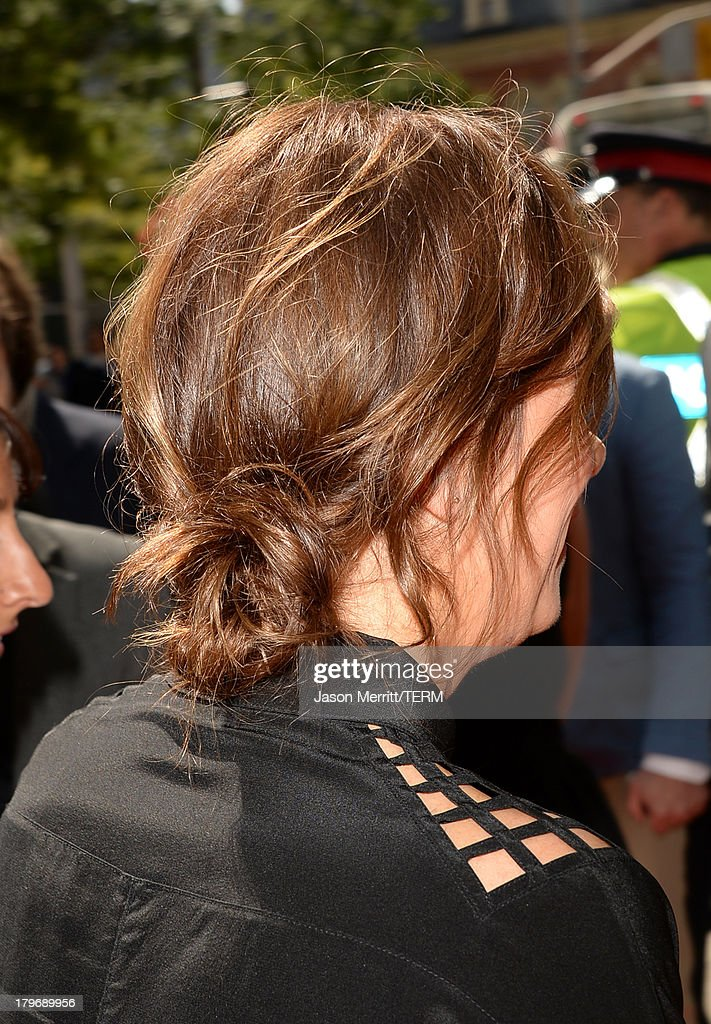 Actress Kristen Wiig (hair detail) arrives at 'Hateship Loveship' Premiere during the 2013 Toronto International Film Festival at Princess of Wales Theatre on September 6, 2013 in Toronto, Canada.
