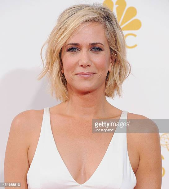 Actress Kristen Wiig arrives at the 66th Annual Primetime Emmy Awards at Nokia Theatre LA Live on August 25 2014 in Los Angeles California