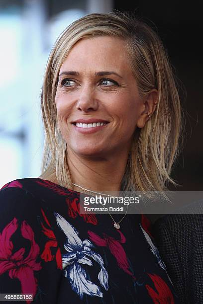 Actress Kristen Wiig attends a ceremony honoring director Ridley Scott wtih a Star on The Hollywood Walk Of Fame on November 5 2015 in Hollywood...