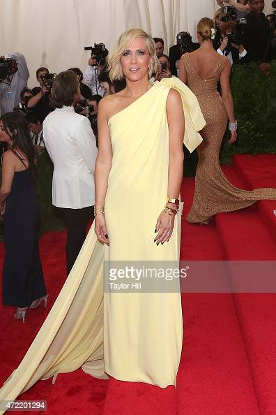 Actress Kristen Wiig attends 'China Through the Looking Glass' the 2015 Costume Institute Gala at Metropolitan Museum of Art on May 4 2015 in New...