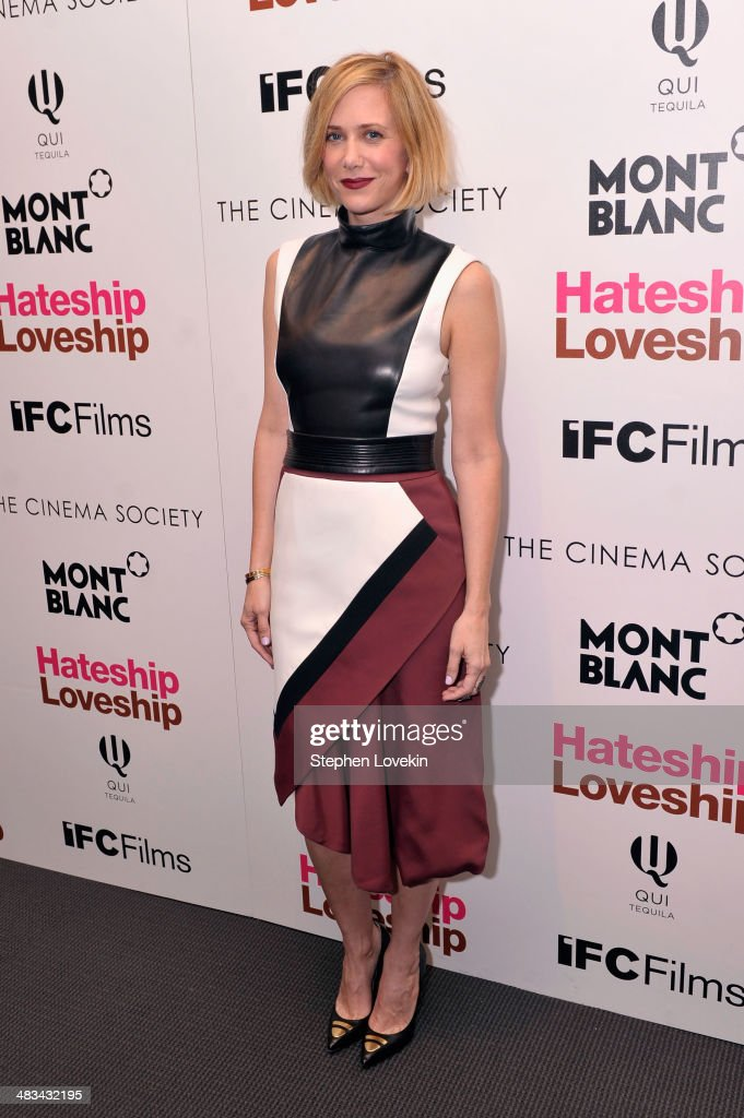 Actress <a gi-track='captionPersonalityLinkClicked' href=/galleries/search?phrase=Kristen+Wiig&family=editorial&specificpeople=4029391 ng-click='$event.stopPropagation()'>Kristen Wiig</a> attends IFC Films' 'Hateship Loveship' screening hosted by The Cinema Society and Montblanc at the Museum of Modern Art on April 8, 2014 in New York City.