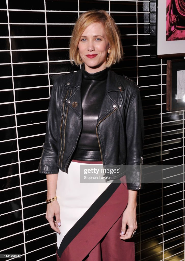 Actress Kristen Wiig attends IFC Films' 'Hateship Loveship' screening hosted by The Cinema Society and Montblanc after party at The Skylark on April 8, 2014 in New York City.