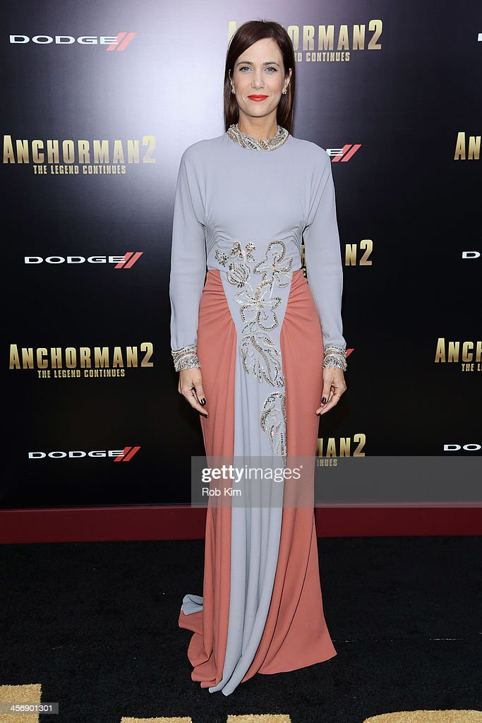 Actress <a gi-track='captionPersonalityLinkClicked' href=/galleries/search?phrase=Kristen+Wiig&family=editorial&specificpeople=4029391 ng-click='$event.stopPropagation()'>Kristen Wiig</a> attends the 'Anchorman 2: The Legend Continues' U.S. premiere at Beacon Theatre on December 15, 2013 in New York City.