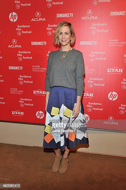 Actress Kristen Wiig attends the Power Of Story Panel Serious Ladies during the 2015 Sundance Film Festival at the Egyptian Theatre on January 24...