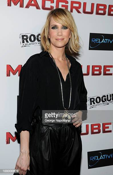 Actress Kristen Wiig attends the premiere of 'MacGruber' at Landmark's Sunshine Cinema on May 19 2010 in New York City