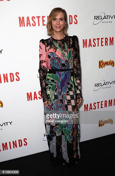 Actress Kristen Wiig attends the premiere of Relativity Media's 'Masterminds' at TCL Chinese Theatre on September 26 2016 in Hollywood California