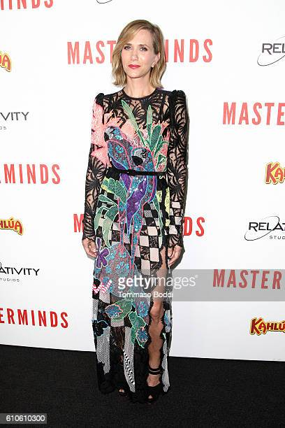Actress Kristen Wiig attends the premiere of Relativity Media's 'Masterminds' held at TCL Chinese Theatre on September 26 2016 in Hollywood California