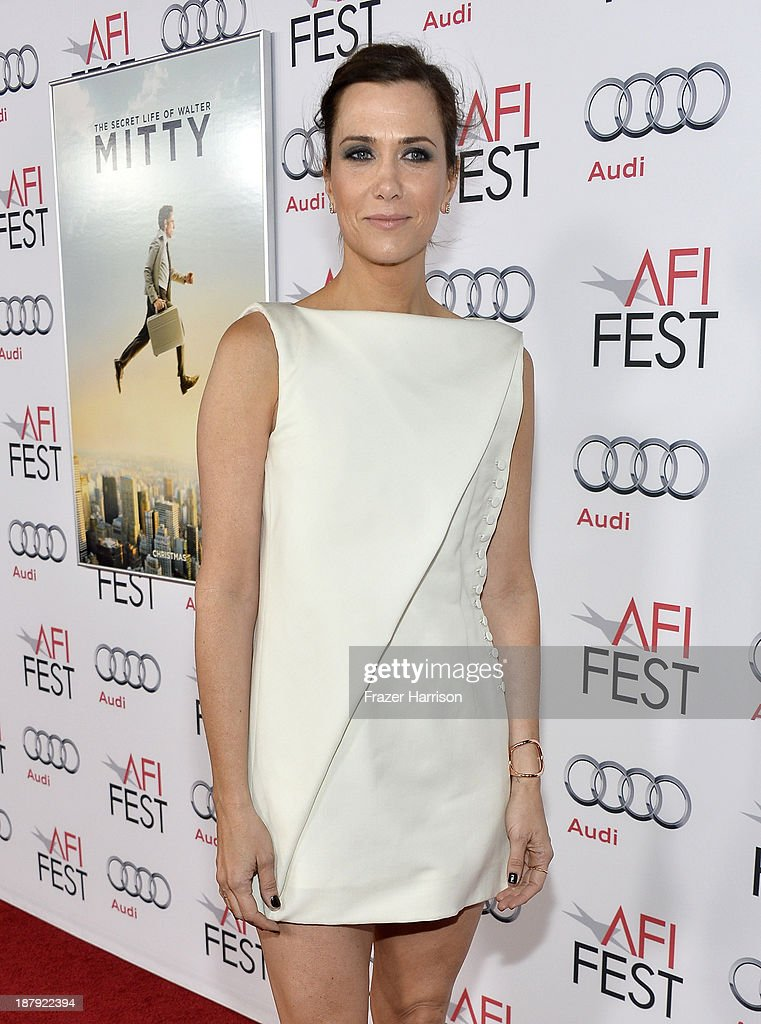 Actress <a gi-track='captionPersonalityLinkClicked' href=/galleries/search?phrase=Kristen+Wiig&family=editorial&specificpeople=4029391 ng-click='$event.stopPropagation()'>Kristen Wiig</a> attends the premiere of 'The Secret Life of Walter Mitty' during AFI FEST 2013 presented by Audi at TCL Chinese Theatre on November 13, 2013 in Hollywood, California.