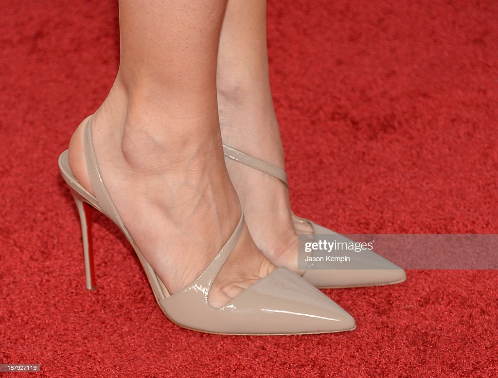 Actress Kristen Wiig (shoe detail) attends the premiere of 'The Secret Life of Walter Mitty' during AFI FEST 2013 presented by Audi at TCL Chinese Theatre on November 13, 2013 in Hollywood, California.