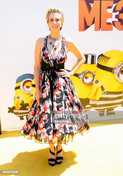 Actress Kristen Wiig attends the premiere of Universal Pictures And Illumination Entertainment's 'Despicable Me 3' at The Shrine Auditorium on June...
