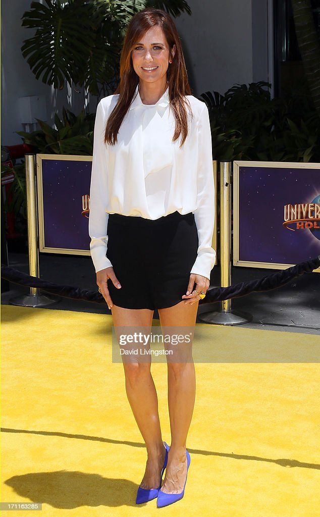 Actress Kristen Wiig attends the premiere of Universal Pictures' 'Despicable Me 2' at the Gibson Amphitheatre on June 22, 2013 in Universal City, California.