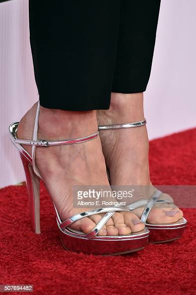 Actress Kristen Wiig shoe detail attends the 22nd Annual Screen Actors Guild Awards at The Shrine Auditorium on January 30 2016 in Los Angeles...