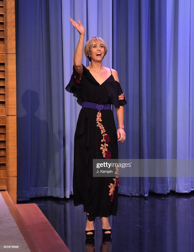 Actress Kristen Wiig visits 'The Tonight Show Starring Jimmy Fallon' at Rockefeller Center on June 28, 2017 in New York City.