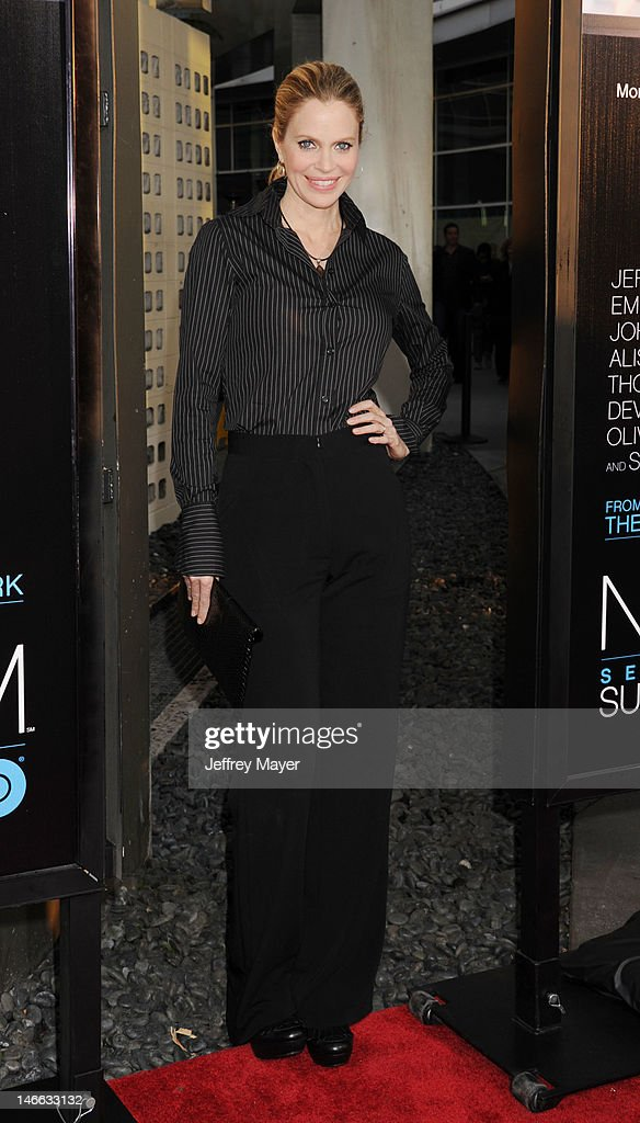 Actress Kristin Bauer van Straten arrives at the Los Angeles premiere of HBO's 'The Newsroom' at ArcLight Cinemas Cinerama Dome on June 20, 2012 in Hollywood, California.
