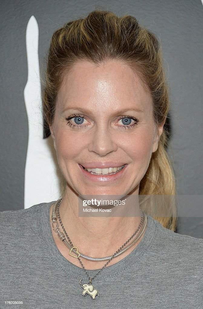 Actress Kristin Bauer van Straten attends the NKLA Pet Adoption Center ribbon cutting and celebrity/donor brunch at the NKLA Pet Adoption Center on August 11, 2013 in Los Angeles, California.