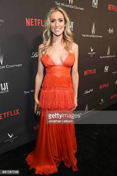 Actress Kristin Cavallari at The Weinstein Company and Netflix Golden Globes Party presented with FIJI Water at The Beverly Hilton Hotel on January 8...