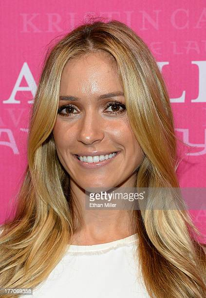 Actress Kristin Cavallari attends MAGIC Market Week as she presents her footwear collection with Chinese Laundry at the Las Vegas Convention Center...
