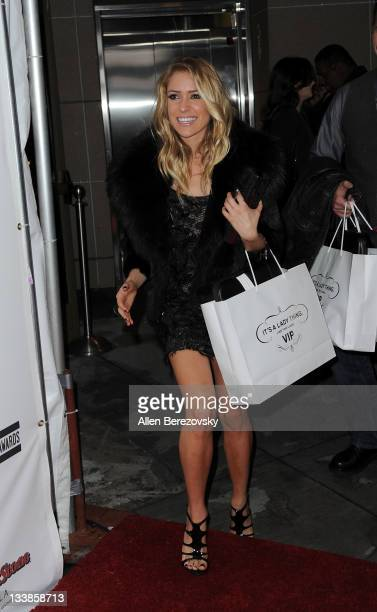 Actress Kristin Cavallari departs the Rolling Stone 2nd Annual AMA afterparty at Rolling Stone Restaurant And Lounge on November 20 2011 in Los...