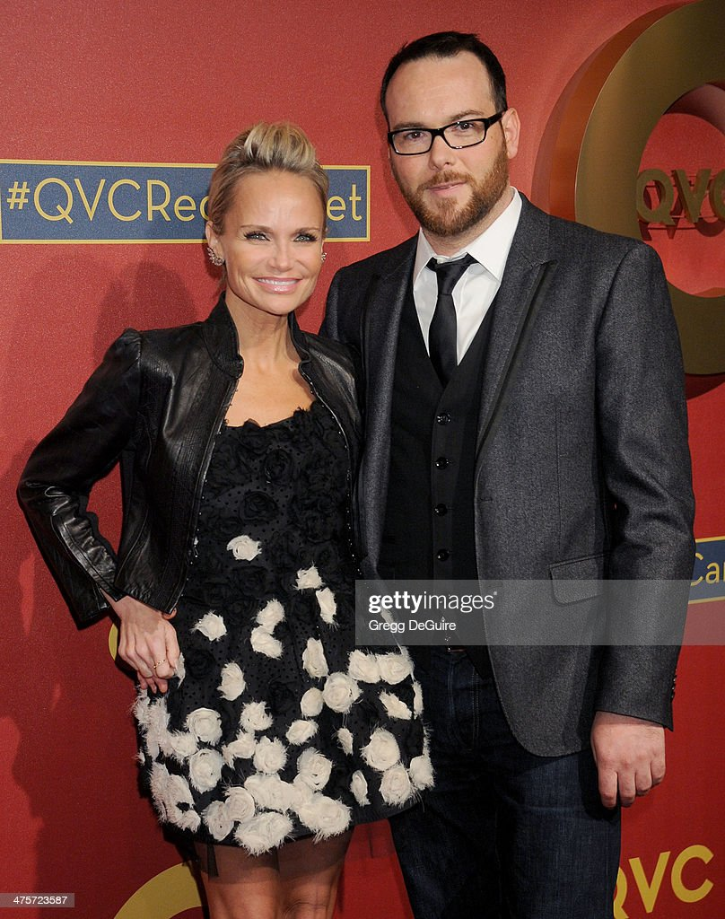 Actress Kristin Chenoweth and boyfriend Dana Brunetti arrive at the QVC 5th Annual Red Carpet Style event at The Four Seasons Hotel on February 28, 2014 in Beverly Hills, California.
