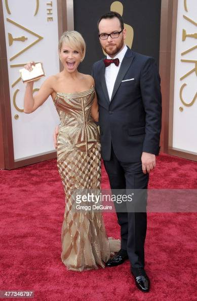 Actress Kristin Chenoweth and Dana Brunetti arrive at the 86th Annual Academy Awards at Hollywood Highland Center on March 2 2014 in Hollywood...