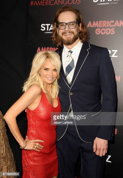 Actress Kristin Chenoweth and producer Bryan Fuller attend the premiere of 'American Gods' at ArcLight Cinemas Cinerama Dome on April 20 2017 in...