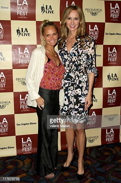 Actress Kristin Chenoweth and singer/documentary subject Chely Wright attend the 'Wish Me Away' Q A during the 2011 Los Angeles Film Festival held at...