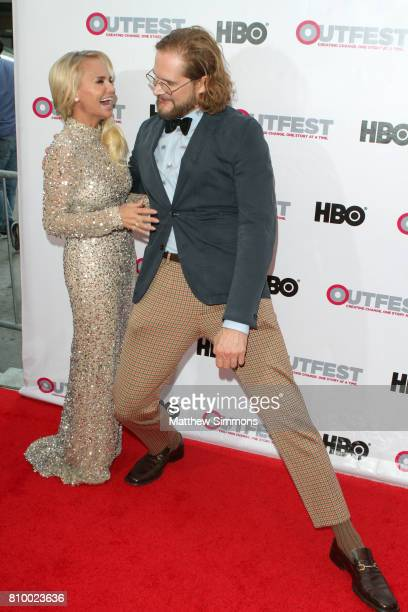 Actress Kristin Chenoweth and writer/producer Bryan Fuller attend the opening night gala of 'God's Own Country' at the 2017 Outfest Los Angeles LGBT...