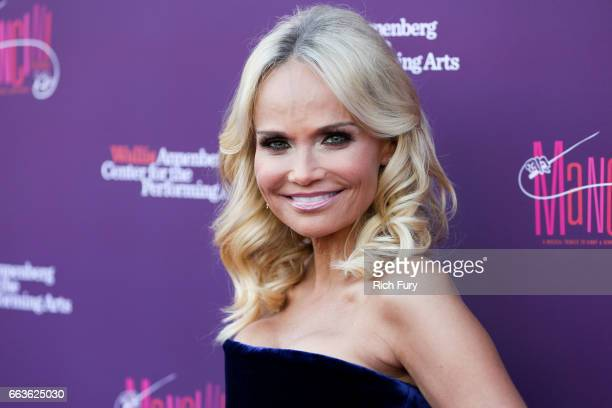 Actress Kristin Chenoweth arrives at Mancini Delivered A Musical Tribute To Ginny And Henry Manciniat the Wallis Annenberg Center for the Performing...