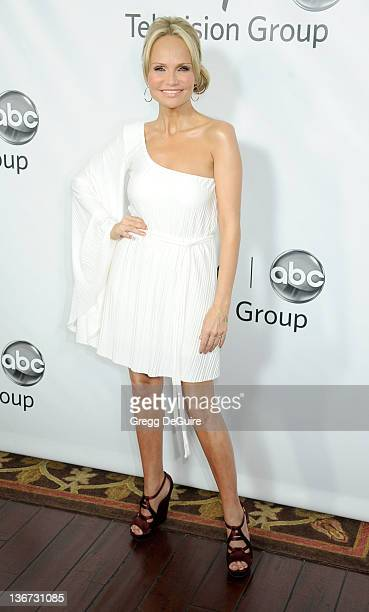 Actress Kristin Chenoweth arrives at the 2012 ABC Disney Winter Party at The Langham Resort on January 10 2012 in Pasadena California