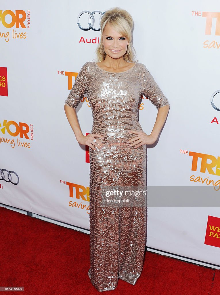 Actress Kristin Chenoweth arrives at The Trevor Project's 2012 'Trevor Live' Event Honoring Katy Perry at Hollywood Palladium on December 2, 2012 in Hollywood, California.
