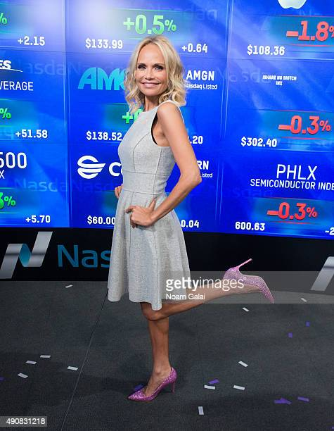 Actress Kristin Chenoweth attends NASDAQ's opening bell ceremony at NASDAQ MarketSite on October 1 2015 in New York City