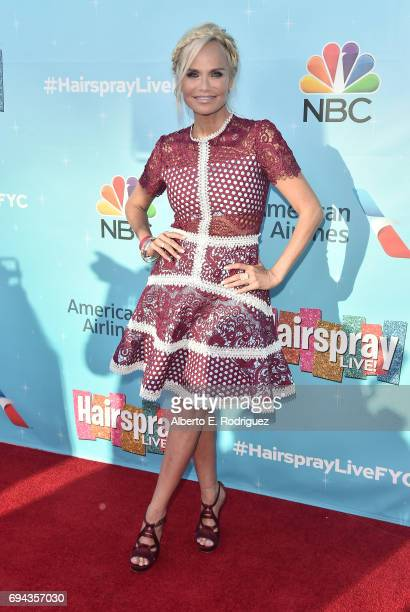 Actress Kristin Chenoweth attends NBC's 'Hairspray Live' FYC Event at the Saban Media Center on June 9 2017 in North Hollywood California