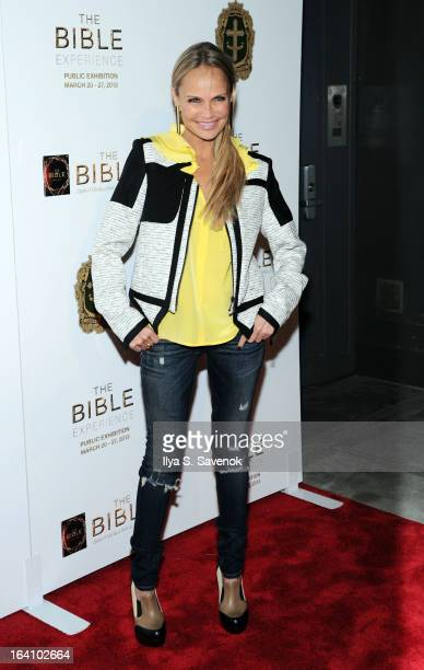 Actress Kristin Chenoweth attends 'The Bible Experience' Opening Night Gala at The Bible Experience on March 19 2013 in New York City