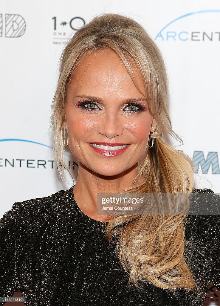 Actress Kristin Chenoweth attends the 'Family Weekend' New York Screening at Chelsea Clearview Cinemas on March 21, 2013 in New York City.