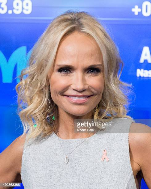 Actress Kristin Chenoweth attends the NASDAQ opening bell ceremony at NASDAQ MarketSite on October 1 2015 in New York City