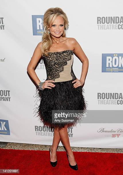Actress Kristin Chenoweth attends The Roundabout Theatre 2012 Spring Gala 'From Screen to Stage' dinner and auction at the Hammerstein Ballroom on...