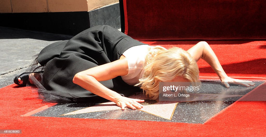 Actress Kristin Chenoweth Honored With Star On The Hollywood Walk Of Fame on July 24, 2015 in Hollywood, California.