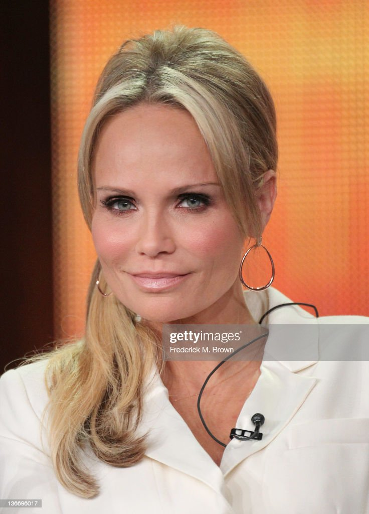 Actress <a gi-track='captionPersonalityLinkClicked' href=/galleries/search?phrase=Kristin+Chenoweth&family=editorial&specificpeople=207096 ng-click='$event.stopPropagation()'>Kristin Chenoweth</a> speaks during the 'GCB' panel during the ABC portion of the 2012 Winter TCA Tour held at The Langham Huntington Hotel and Spa on January 10, 2012 in Pasadena, California.