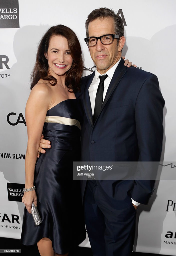 Actress <a gi-track='captionPersonalityLinkClicked' href=/galleries/search?phrase=Kristin+Davis&family=editorial&specificpeople=202097 ng-click='$event.stopPropagation()'>Kristin Davis</a> (L) and Designer/amFAR Chairman Kenneth Cole arrive at amfAR's Inspiration Gala at Milk Studios on October 11, 2012 in Los Angeles, California.