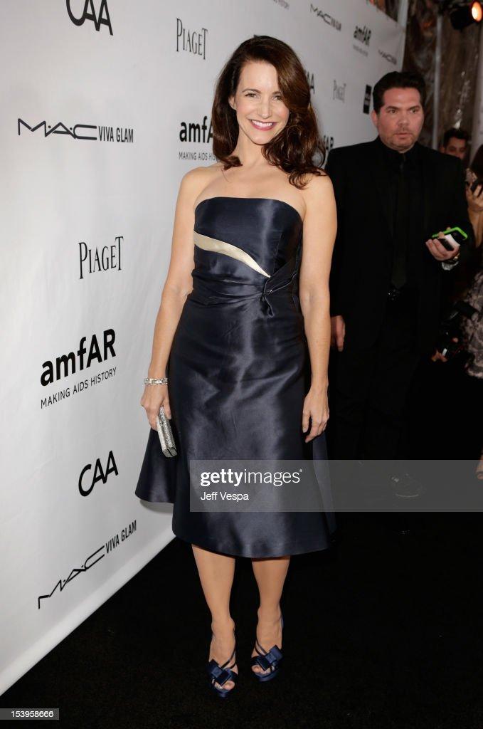 Actress Kristin Davis arrives at amfAR's Inspiration Gala at Milk Studios on October 11, 2012 in Los Angeles, California.