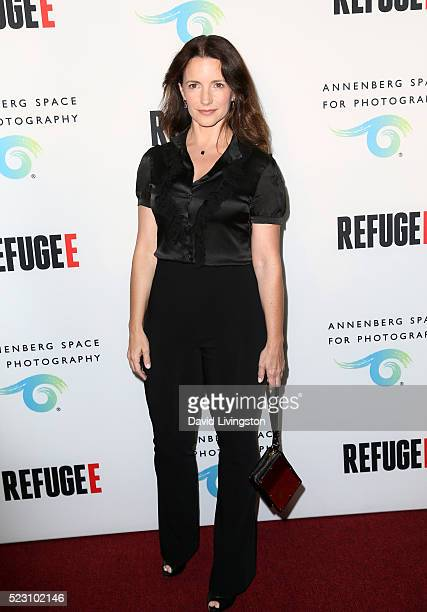 Actress Kristin Davis arrives at the opening of 'Refugee' at The Annenberg Space For Photography on April 21 2016 in Century City California