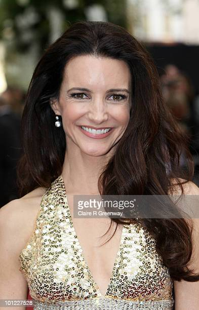 Actress Kristin Davis arrives at the UK premiere of 'Sex And The City 2' at Odeon Leicester Square on May 27 2010 in London England